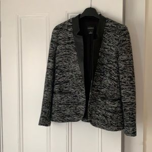 Club Monaco Leather Detail Blazer